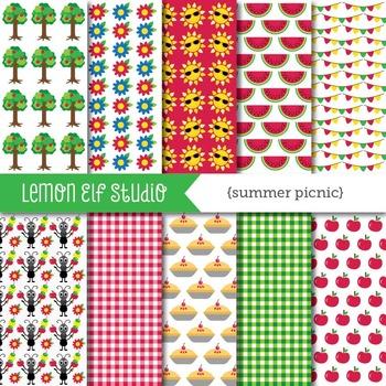 Summer Picnic-Digital Paper (LES.DP38)
