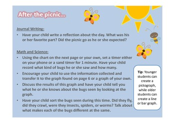 Summer Picnic Learning Activities
