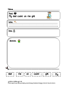 Summer Picnic Theme Bell Work - Read, Write, Draw Packet