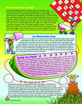 Summer Picnic Themed Activities Grades 1-3