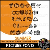 Summer Picture Font {Educlips Clipart}