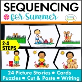 Summer Sequencing Activities with Story Retell & Writing