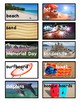 Summer Picture Vocabulary Word Wall Cards and Individual Word Wall