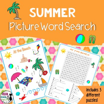 Summer Picture Word Search Puzzles