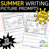 Summer Picture Writing Prompts - PRINT & LEARN - no prep j