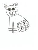 Summer Pig Printable