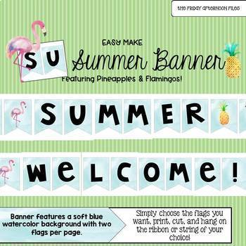 Summer Banner: Pineapple & Flamingo Edition