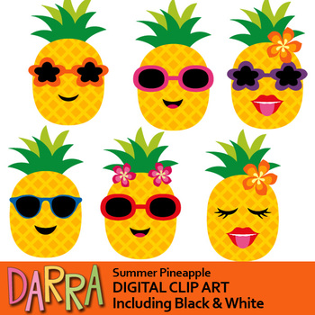 Summer Pineapple clip art by DarraKadisha | Teachers Pay ...