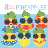 Summer Pineapples Clip Art Set