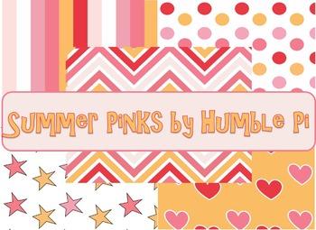 Summer Pink Digital Background Paper