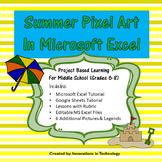 Summer Pixel Art in Microsoft Excel