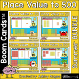 Summer Place Value Boom Card Bundle - To 30, 50, 120, and 500