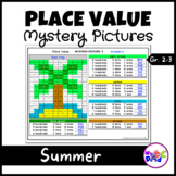 Summer Place Value Mystery Pictures with TPT Easel