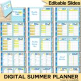 Summer Planner Digital Interactive Notebook Templates EDITABLE