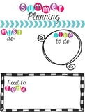 Summer Planning {Freebie}
