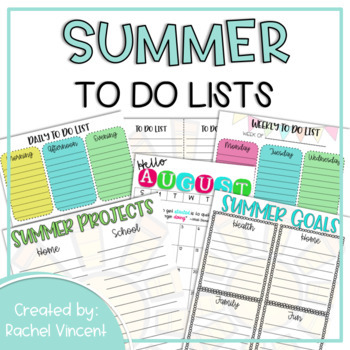 Summer Planning {Organizational Tools for a Productive Summer}