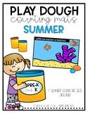 Summer Play Dough Counting Mats