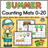 Summer Play Dough Counting Mats and Frames