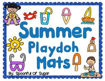 Summer Play-doh Mats