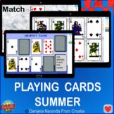Summer Playing Cards Memory Matching Summer Bundle Game Bo