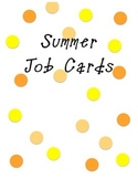 Summer Pocket Chart Cards, Passes, and Memo sheet