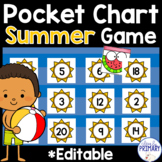 Summer Pocket Chart Game: Numbers 1-20, Alphabet & Sight Words