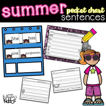 Summer Pocket Chart Sentences