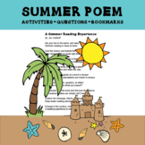 Summer Poem About Reading with Activities and Questions