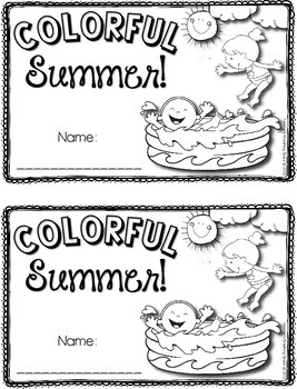 """Summer Poem Writing --- """"Colorful Summer"""" Poetry Writing Book"""