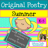 Summer Poems Poetry Unit with Inferencing Questions + Writing Prompts