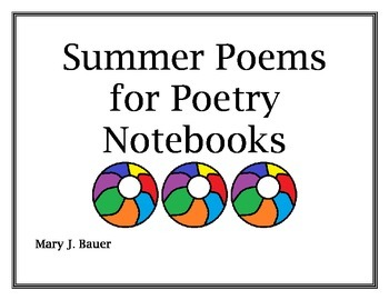 Summer Poems for Poetry Notebooks
