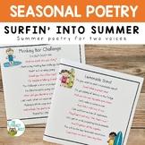 Partner Poems for Fluency Practice Summer Poetry