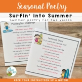 Partner Poems for Fluency Practice Summer Poetry