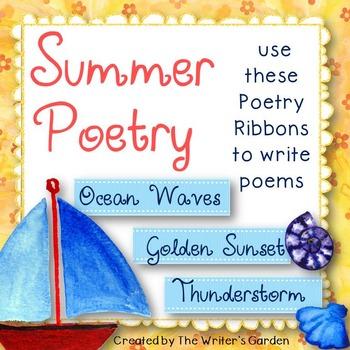 Summer Poetry: 66 Poetry Prompt Ribbons