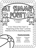 Summer Poetry Book