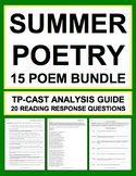 Summer Poetry Bundle: Summer Reading Assignments