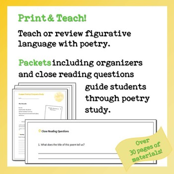 Summer Poetry: Cinquain Study Unit