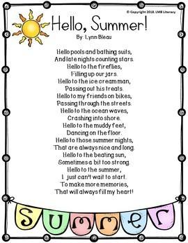 Summer Poetry Freebie