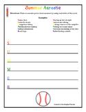 Summer Poetry Pack: Haiku, Diamante, Acrostic, Cinquain (Grades 3-6)