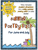 Summer Poetry Pack ~ w/ daily Shared Reading Plans {Common
