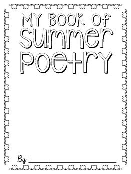 Summer Poetry Journal