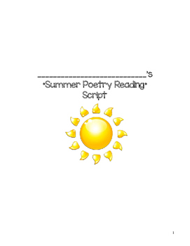 Summer Poetry Readng Script