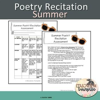 Summer Poetry Recitation Assignment