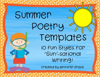 Summer Poetry Templates ~10 Fun Templates For 'Sun'-sational Writing!
