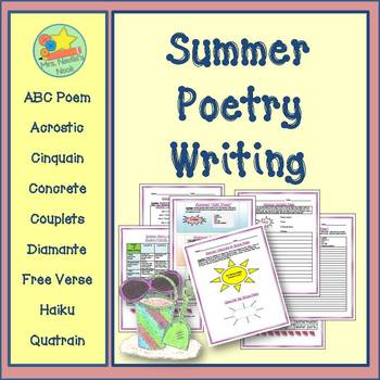 Poetry Writing - Summer Acrostic, Cinquain, Couplets, Diamante, Haiku and More