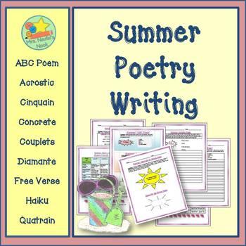 Summer Poetry Writing - Acrostic, Cinquain, Couplets, Diam