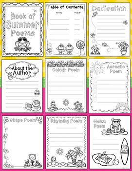 Summer Poetry Writing Unit