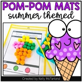 Summer Pom Pom Mats (Fine Motor)