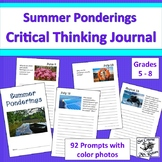 Summer Ponderings - 92 Critical Thinking Journal Prompts