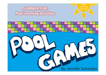 Summer Pool Learning Activities